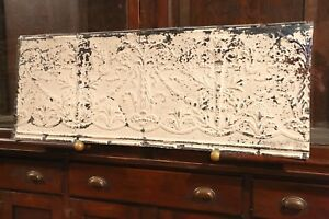 Antique-Metal-Tin-Ceiling-Tile-48-034-X-18-034-shabby-chic-Sheet-Panel-Reclaim-Salvage