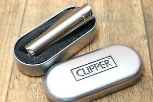 feines-034-CLIPPER-034-Pfeifen-Feuerzeug-silberfarben-NEU-in-Metallbox-224001