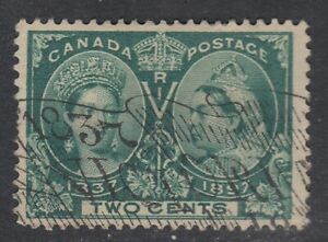 Canada-Scott-52-2-cent-green-034-Diamond-Jubilee-034-F