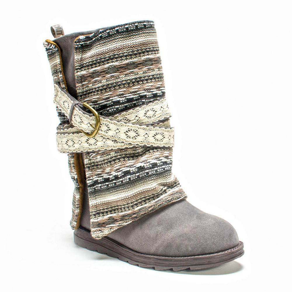 MUK LUKS Women's Nikki Belt Wrapped Boot Comfort Winter Snow Rain Casual Walking