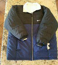 Nike XL puffy Snowboarding Winter Jacket Blue Black RN 56323 Vintage 90's retro