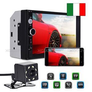 7-034-AUTORADIO-STEREO-MP5-LETTORE-RADIO-2DIN-FM-USB-AUX-BLUETOOTH-MP3-TELECAMERA