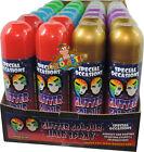 GLITTER HAIR SPRAY TEMPORARY COLOUR HAIR SPRAY GOLD SILVER RED BLUE GREEN PURPLE
