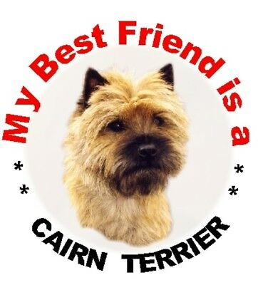 "Cairn Terrier Dog Fridge Magnet /""THE MORE I LOVE MY DOG/""  No 2 by Starprint"