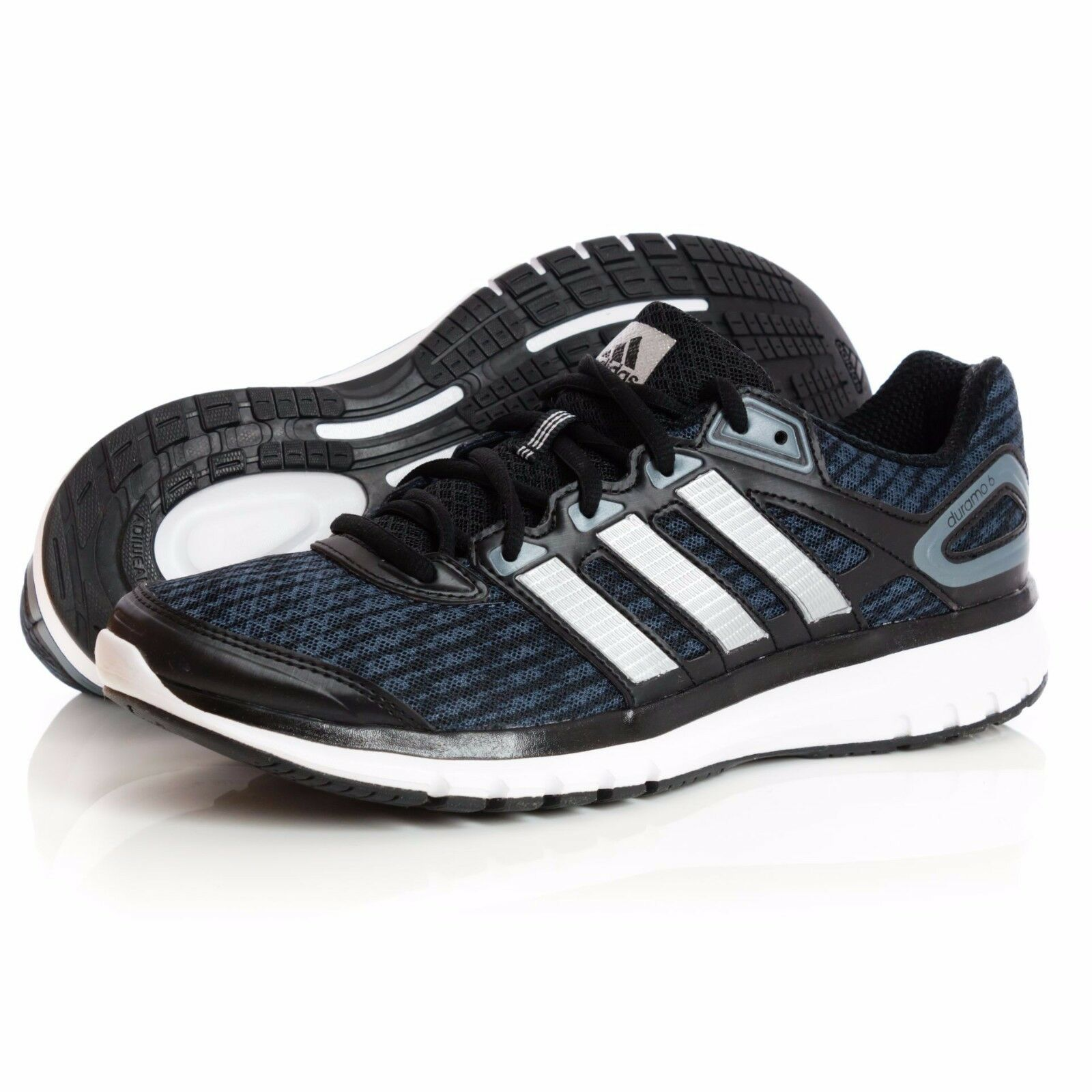 ADIDAS Duramo 6 size 7 *NEW* Black Grey Running Shoes Adiwear ADIPRENE LAST PAIR