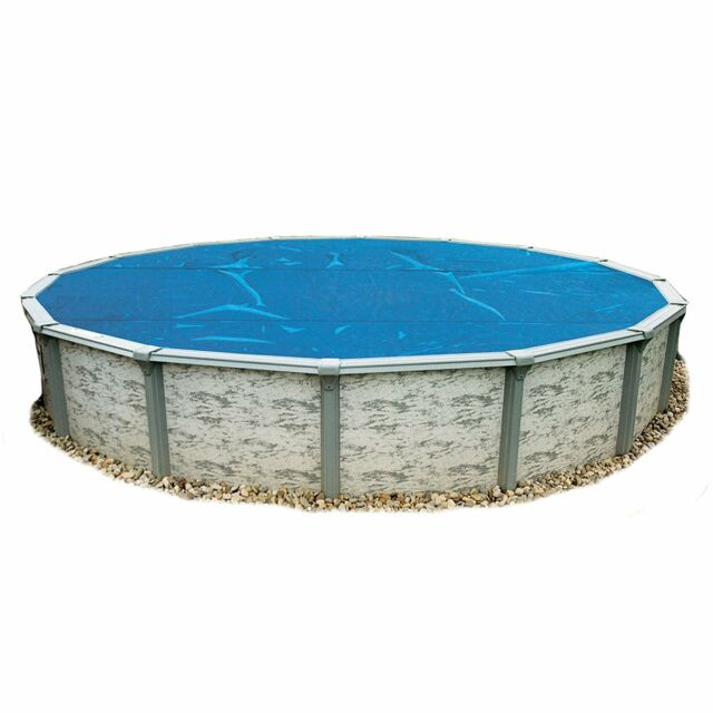 Round 28ft Blue Solar Blanket Above Ground Swimming Pool Thermal Heat Cover  8mil