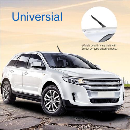 Screw 4.7inches Universal Car Antenna Carbon Fiber Radio FM Antena Black Kit