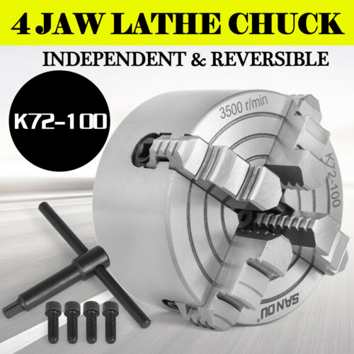 Metal Lathe Chuck K72 80-160mm 4Jaw External Jaw Milling Machine Independent
