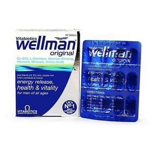 Vitabiotics-Wellman-Original-30-Tablets-Multi-Vitamin-Minerals-A-B-C-D-Iron-Zinc