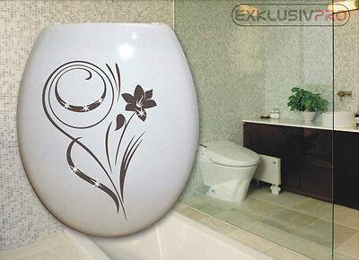 WC Deckel Toiletten Aufkleber Swarovski Strass Tattoo Blumen Ranke Bad Dusche 09