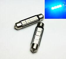 2x C10W Festoon 42mm 264 Ultra Bright 4 LED SMD SV8,5 Blue Interior Bulbs A