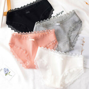Women-Sexy-Lace-Briefs-Underwear-Polyester-Panties-Breathable-Spandex-Underpant