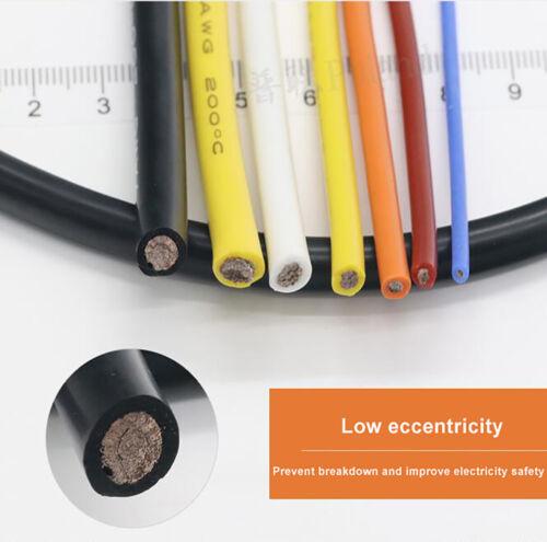 Flexibel Silikon Elektrische Kabel Draht 0,08mm Tinned Copper Schaltlitze 600V