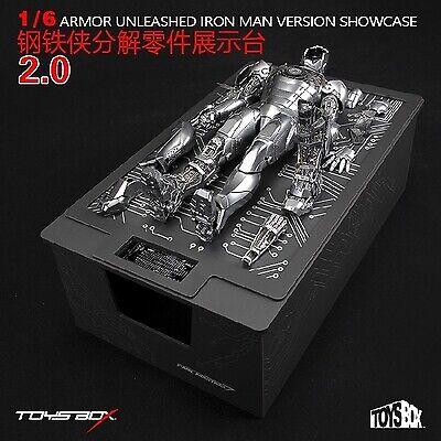 Juguetes-Caja 1 6 armadura Unleashed Iron Man MK2 Conjunto de Pantalla de 2.0 versión escaparate
