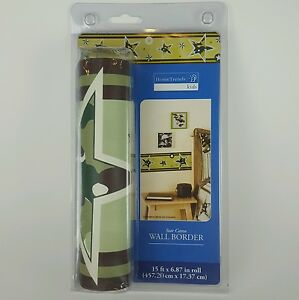 Wall Border Star Camo 15 Ft Home Trends Kids New