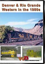 DENVER & RIO GRANDE WESTERN IN THE 1980'S WB VIDEO PRODUCTIONS SKI TRAIN F-9 DVD