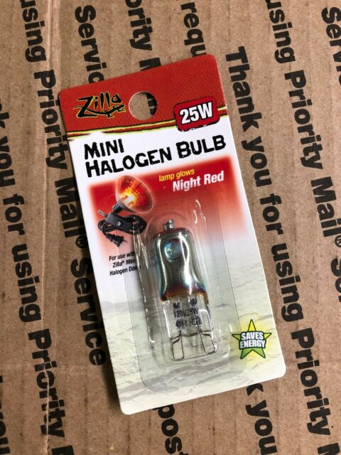Zilla Reptile Terrarium Heat Lamps Mini Halogen Bulb Night