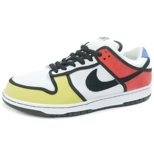 best sneakers f358c 0b916 Image is loading NIKE-DUNK-LOW-PRO-SB-Piet-Mondrian-304292-