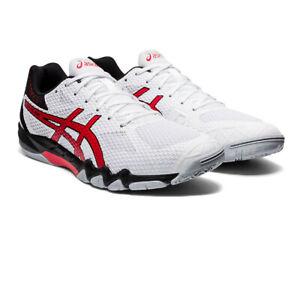 Asics Homme Gel-lame 7 intérieur cour Chaussures Blanc Sports Squash Badminton Handball