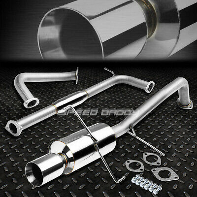 "4/""ROLLED TIP MUFFLER PERFORMANCE CATBACK EXHAUST KIT FOR ALTEZZA IS 300 2JZ XE10"