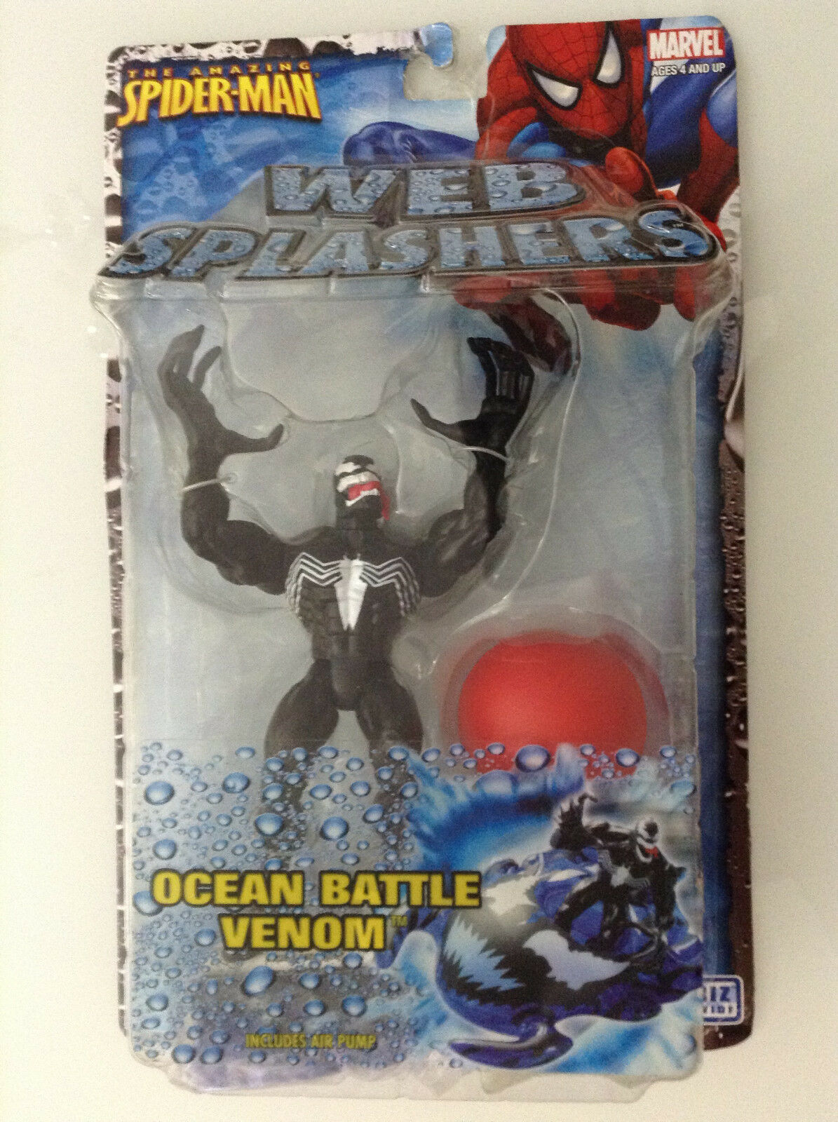 SPIDER-MAN WEB SPLASHERS OCEAN BATTLE VENOM ACTION FIGURE 5  NEW(AMAZING NOW 134