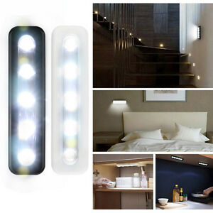 Details About Bright 5 Led Battery Operated Bulb Stick On Push Strip Lights Kitchen Shed Au