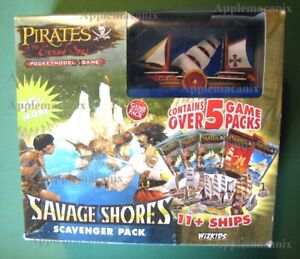 NEW-Wizkids-Pirates-CSG-Savage-Shores-Scavenger-Pack-Booster-Box-w-Promo-Ship-VR