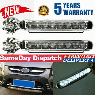 2x Wind Power LED Car Daytime Running Light Fog Lamp Car DRL Driving Day Light