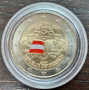 2 EUROS COLORISÉS - TRAITÉ DE ROME - 2007 - AUTRICHE