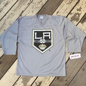 info for 4a93e a7f3f NHL Los Angeles LA Kings Hockey 50th Anniversary • Youth CCM ...