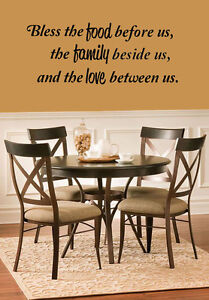 Image Is Loading Bless The Food Family Love Vinyl Wall Quote