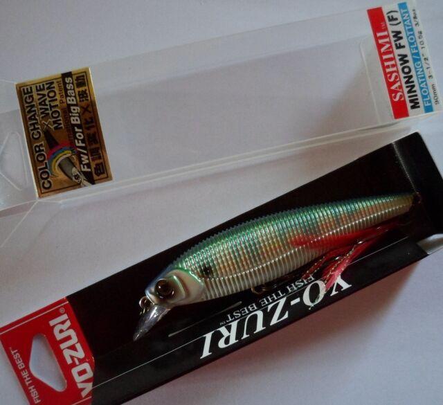 Leurre pêche Yo-Zuri Sashimi Minnow FW 9cm 10,5g nage 0,8m couleur CCPB