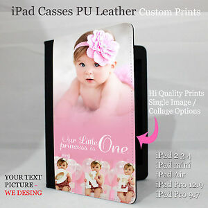 buy popular 46aa8 f53d1 Personalised iPad 2 3 4 case cover flip wallet PU Leather iPad Pro12 ...