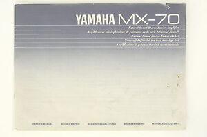 YAMAHA-mx-70-puissance-AMPLIFICATEUR-originale-Mode-d-039-em-Ploi-Mode-d-039-em-Ploi