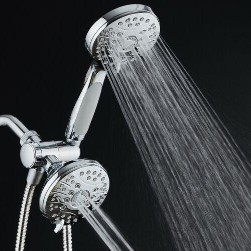 AquaSpa High Pressure 3-way Combo Dual Rain /& Handheld Shower Head Wall Bracket