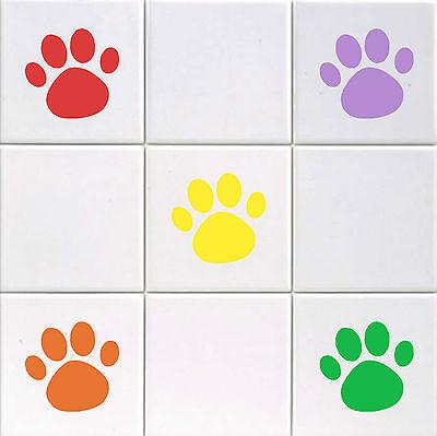 Hardwerkend Paw Print - Vinyl Tile Decals