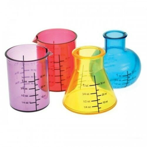 Chemistry Lab Drinking Shot Glass Set of 4Party Fun
