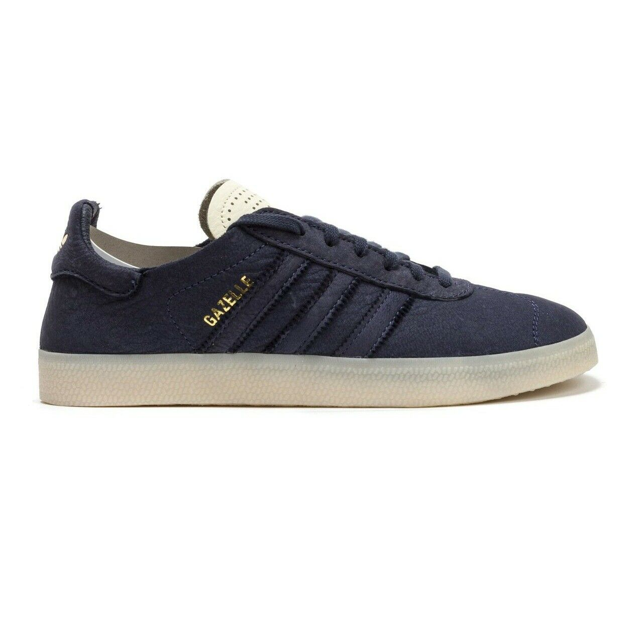 Adidas Originals Gazelle Crafted Charles F Stead LE Navy gold Mens Size 10.5