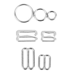 10pcs Silver Metal Bra Strap Adjuster Slider Hook Lingerie Sewing Craft 25mm