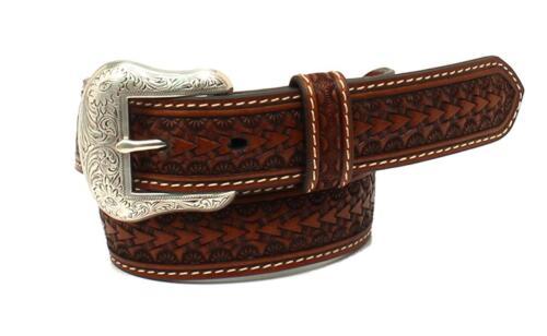 Nocona Western Boys Belt Kids Rawhide Scalloped Lacing Conchos Brown N4437208