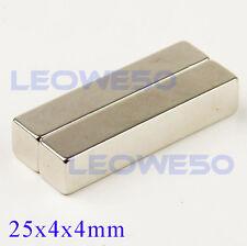 50 X Rectangular Block Magnet 25mm x 4mm x 4mm Rare Earth Neodymium No. 1713