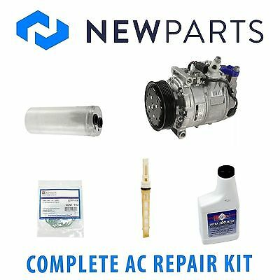 VW Passat 1.8L For Audi A4 1.8 Complete AC A//C Repair Kit W// Compressor /& Clutch