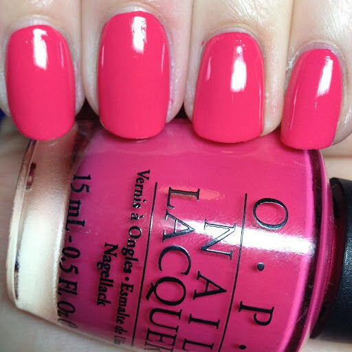 Opi Charged Up Cherry Bright Hot Red Pink Nail Polish Lacquer 05oz B35 Ebay