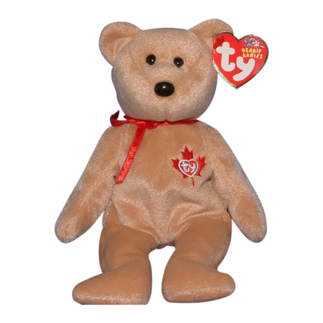 Ty True 2003 Canada Tan Brown Maple Leaf Bear 8 Beanie Baby MWMT for ... fd2b7dc7dc99