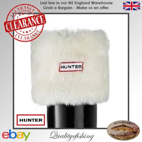 Hunter Chaussettes enfants pour bottes fourrure polaire blanc X-Small UKC10-C12 CLEARANCE