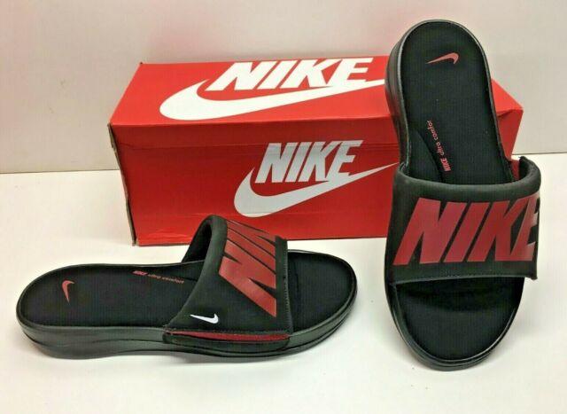 outlet store f2147 5614c Nike Ultra Comfort Slide 3 Men's Sandals Slides Slippers Size 8 Black Red