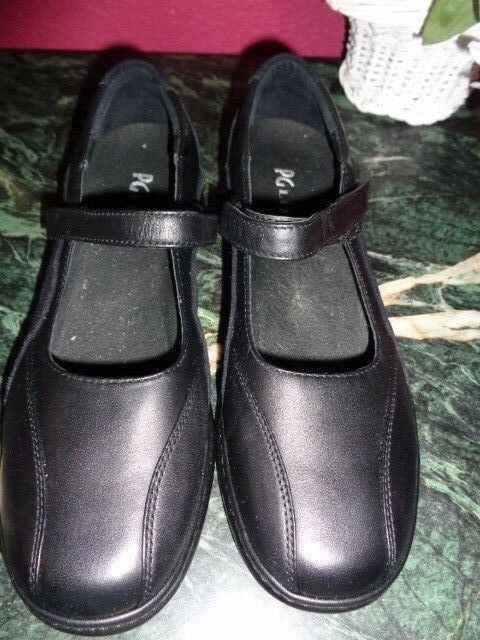 bebf666b90a1 P G LITES BLACK LEATHER MARY JANES SIZE 8.5 EE NEW CONDITION WITH DEFECT