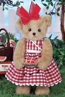 Bearington Bears Cherrylyn Picnic Cherry Pie Collectible Teddy Bear