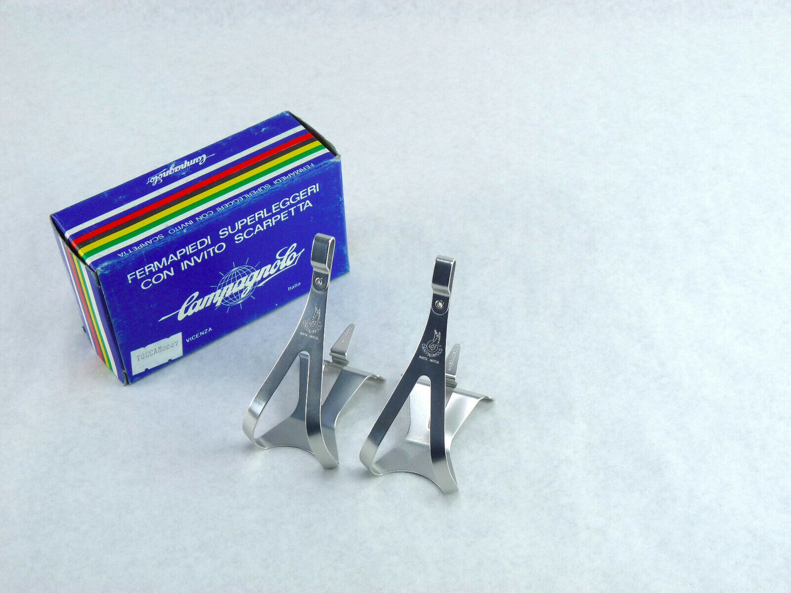 Campagnolo Super Record Toe Clips Light Alloy Medium Fit all others NOS