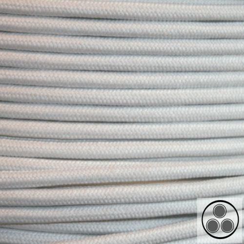 Câble textile tissu Câble lampes-Câble Câble électrique coton weis 3 conducteurs